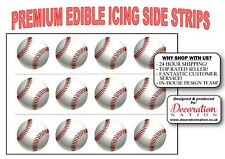 Baseball BALL ICING SIDE STRIP Edible Cake Decoration Sports Bat Player Team