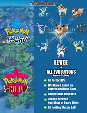 Pokemon Sword and Shield Eevee - All Evolutions w/Master Balls│Regular•Sq.Shiny│