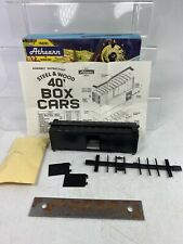 Athearn Ho Scale New #1200 40ft Undecorated BoxCar Kit :Black