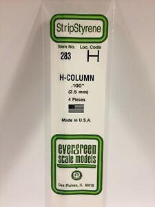 Evergreen EV0283 Profilé Section H 350mm Hauteur 2,5mm (4pz) Modélisme