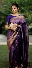Indian Banarasi Silk Saree Wedding Party Wear New Designer Sari & Blouse