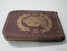 Victorian antique diary 1887 Queen Victoria jubilee historical 130 yr notebook