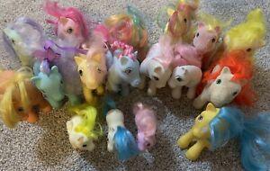Vintage My Little Pony Lot So Soft Vinyl Horse 1980's G1 Collectible Toys 17 Pcs