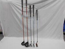 Lot of 4 Wilson Titanium Matrix Distance Technology Golf Clubs and 1 Putter