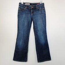 Express Womens Jeans W10 Slim Low Rise Boot Cut Stretch Blue Denim Size 6 Short