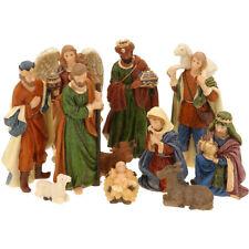 11 Figurines de Crèche de Noël - Nativité - Santons de Noël réalistes