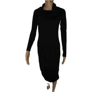 LIU-JO vestito a tubino tinta unita manica lunga100% originale donna