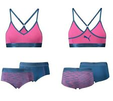 Puma 2 Pack Logo Collage Print Hipster Briefs Light Prink Anthracite  Womens