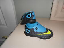 """NIKE """"Kevin Durant"""" KD VI Sneakers 599479 006 Black Volt Vivid Blue Size 7C"""