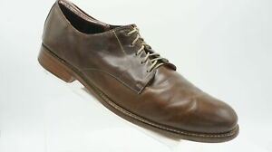 Cole Rood Haan Co. Green C08777 Size 13 M Brown Leather Oxfords Dress Mens Shoes
