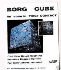 Star Trek Borg Cube Resin Kit urdimbre Modelos Grande 200mm X 200mm X 200mm