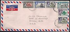 GILBERT & ELLICE ISLANDS 1952 AIR MAIL COVER FRANKED KING GEORGE VI ISSUES TO