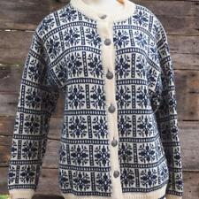 Vintage Womans Kofler Mode Luzern Wool Sweater Button Down Size M