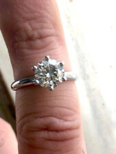 2.10 CT REAL NATURAL DIAMOND ENGAGEMENT RING ROUND CUT F VS2 PLATINUM