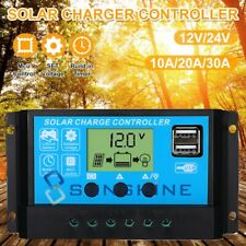 30-100A MPPT Solar Charge Controller Dual USB Auto Cell Panel Charger Regulator