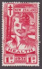 New Zealand 1931 #B3 Semi-postal (Health) - Mint with Faults