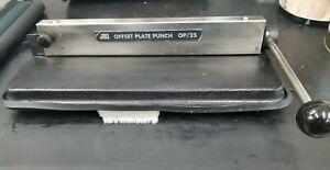 JBI OFFSET PLATE PUNCH OP/25