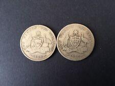 Australia 1 Florin 1914h,1915,  KGV X 2 ,  scarce KEY date coins