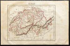 1843 - Suisse - Carte ancienne - Perrot & Tardieu - Antique Map