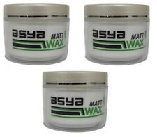 3x Asya Creme Matt Wax 100ml Weiß Natur Look Cream