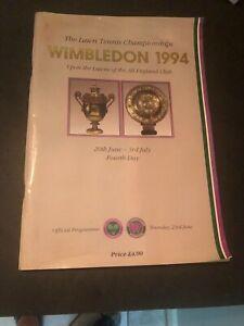 1994 Wimbledon Tennis Championships Program 4th Day All England