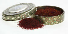 Novin Saffron 8 grams in traditionally painted Metal Tin (Perfect for Paella)