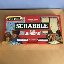 VINTAGE SPEAR'S JUNIOR SCRABBLE BOARD GAME 1983 GREAT CON 2 WORD GAMES