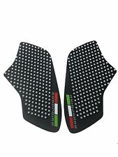 White Anti slip Tank Traction Side Pads Grip Protector For Monster 696 796 1100