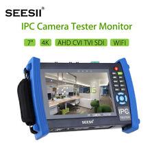 "4K 7"" IP CCTV Camera Monitor Tester AHD TVI CVI SDI CVBS Test Touch Screen HDMI"