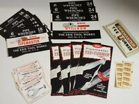 Vtg 20 pieces 1950's ERIE TOOL WORKS - Pipe Wrench Labels, Brochures, Decals NEW