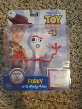 """Forky with Wacky Action 6"""" Figure Pixar Toy Story 4 Pull 'N Go Thinkway Toys"""