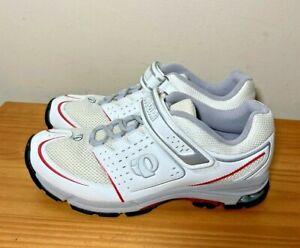 Pearl Izumi X-Road 5792 Cycling Shoe Sneaker White EU 40 Womans sz 8.5 w/ Cleats
