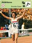 FICHE CARD: Brendan Foster GB Courses de fond Athlétisme 1970s