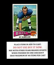 1975 TOPPS FOOTBALL 301 TO 400 SELECT FROM OUR LIST
