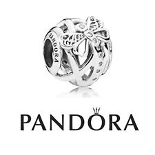 Authentic Pandora Silver Dreamy Dragonfly Charm + Pop Up Bag & Wrapping