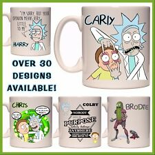 Personalised Rick and Morty Mug - Any Name - Many Designs - Gift Idea - Coffee