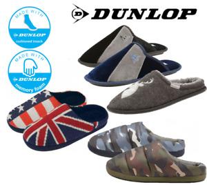 Dunlop Men's Camouflage Padded & Microfibre Slip On Cushioned Shoe Mule Slipper