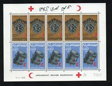 1968 - Morocco- Maroc - Jewelry - Bijoux - Red crescent - Tète  bêche - MS MNH**