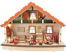 """Spieluhr """"Stille Nacht"""" im Weihnachtshaus Advent mit Beleuchtung Weihnachten NEU"""