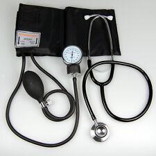 ANEROID SPHYGMOMANOMETER Adulto Cuff pressione sanguigna monitor DUAL HEAD stethoscope