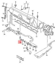 Genuine Angled hose VW AUDI Golf R32 GTI Rabbit Jetta Variant 06A133783AS