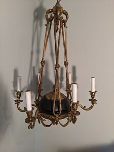 Antique Art Nouveau chandelier   Nice condition!