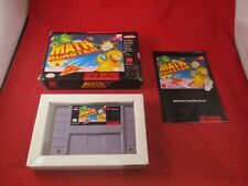 Math Blaster Super Nintendo SNES COMPLETE w/ Box manual game WORKS!
