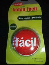 STAPLES Vintage Spanish Easy Button fácil botón español Asi de Fácil FACIL NEW!