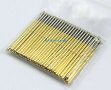 100 Pieces P100-T2 Dia 1.36mm Length 33.35mm Spring Test Probe Pogo Pin