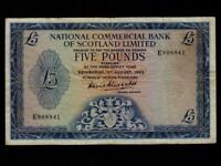 Scotland:P-272,5 Pounds,1963 * National Commercial Bank of Scotland Ltd * VF *