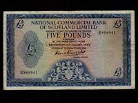 Scotland:P-272,5 Pounds,1963 * National Commercial Bank of Scotland Ltd * VF *