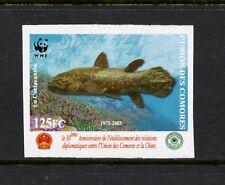 Comoros 2006 #980B  fish marine Coelacanth  WWF  IMPERF  1v.  MNH L314