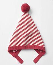 GAP Baby Boys Girls Size 6-12 Months Red Striped Christmas Sweater Hat w/Pom-Pom