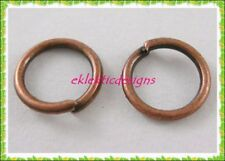 6mm 100pcs Antique Copper Bronze Jump Rings Jewelry Findings Open Split Earrings